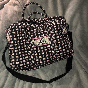 Never Used Vera Bradley Weekend Bag: Pink Elephant